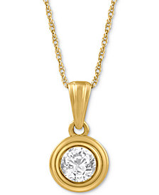 Diamond Pendant Necklace (1/5 ct. t.w.) in 14k Gold