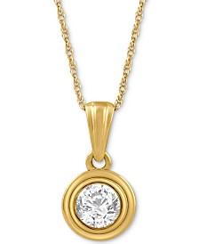 Diamond Pendant Necklace (1/5 ct. t.w.) in 14k Gold