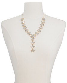 "I.N.C. Multi-Stone Y Necklace, 19"" + 3"" extender, Created for Macy's"