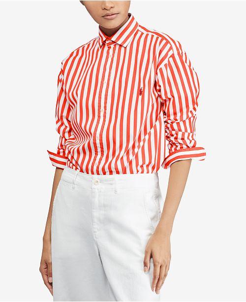 Polo Ralph Lauren Bengal-Striped Cotton Shirt   Reviews - Tops ... 4ccf3dc28