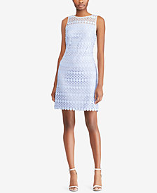 Lauren Ralph Lauren Lace Sleeveless Dress, Regular & Petite Sizes