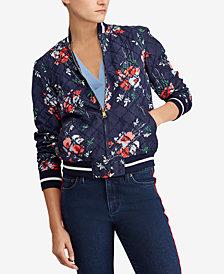 Lauren Ralph Lauren Petite Floral-Print Bomber Jacket