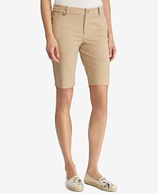 Lauren Ralph Lauren Petite Twill Shorts