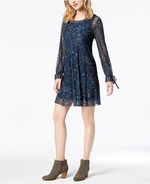 27aaf5f359e Style   Co Printed Empire-Waist Dress