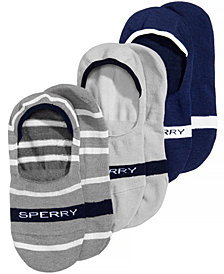 Sperry Men's No-Show Socks 3-Pack