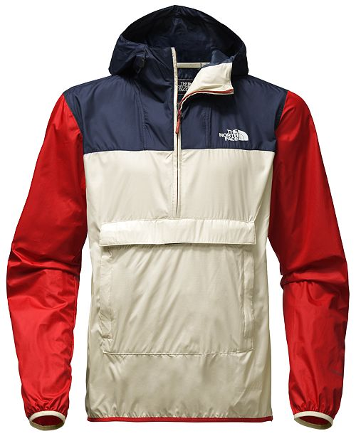 08ef29a0fa ... The North Face Men s Fanorak Colorblock Water-Repellent Pullover ...