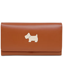 Radley London Heritage Dog Large Flapover Leather Wallet