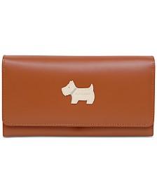 Radley London Heritage Dog Large Flapover Leather Wallet