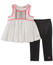 Calvin Klein 2-Pc. Tunic & Leggings Set, Baby Girls