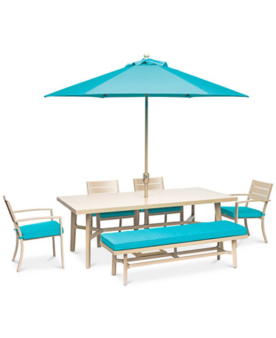 Beach House Outdoor 6-Pc. Dining Set (84