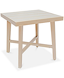 Beach House Aluminum Outdoor Outdoor End Table, Created for Macy's
