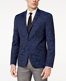 Men's Slim-Fit Stretch Paisley Dinner Jacket, Online Only