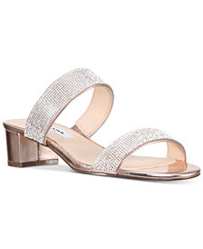 Nina Georgea Rhinestone-Encrusted Slide Sandals