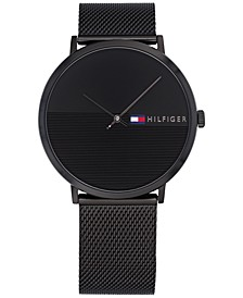 Men's Black Mesh Bracelet Watch 40mm, Created for Macy's