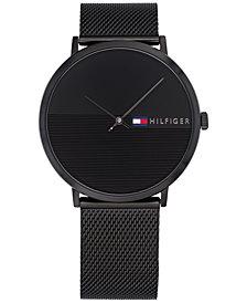 Tommy Hilfiger Men's Black Mesh Bracelet Watch 40mm, Created for Macy's
