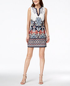Laundry by Shelli Segal Embroidered Shift Dress