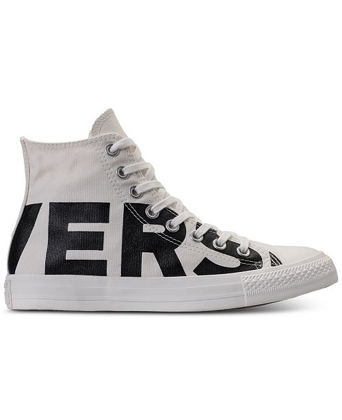 eb22991c1413b0 ... Converse Men s Chuck Taylor All Star Wordmark High Top Casual Sneakers  from Finish ...