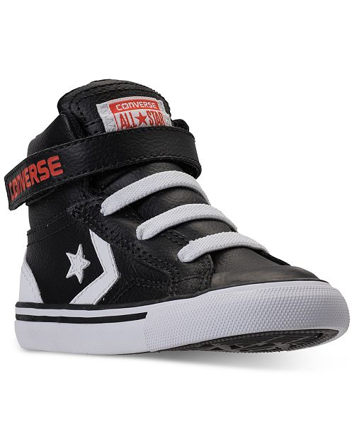 37ee4a7c2 ... Converse Toddler Boys' Pro Blaze Strap II High Top Casual Sneakers from  Finish ...