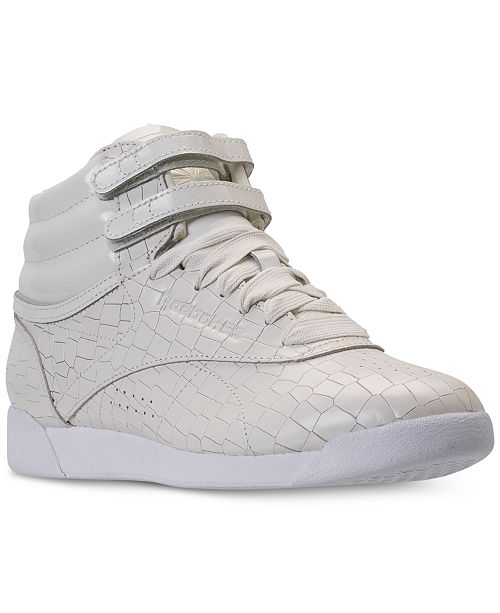 Reebok Women's Freestyle High Top Casual Sneakers from Finish Line 0Auknv