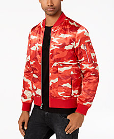GUESS Men's Camo Bomber Jacket