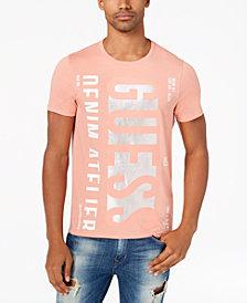GUESS Men's Denim Atelier Logo Cotton T-Shirt