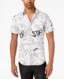 I.N.C. Men's Doodle-Print Shirt, Created for Macy's