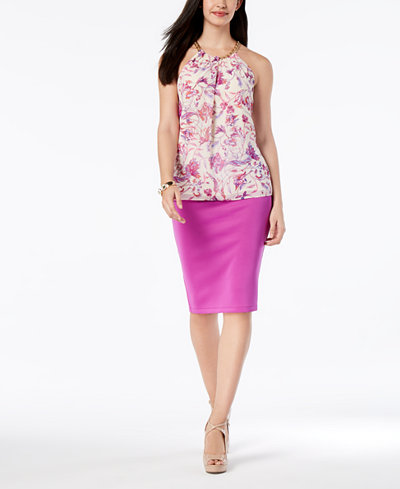 Thalia Sodi Halter Top & Pencil Skirt, Created for Macy's