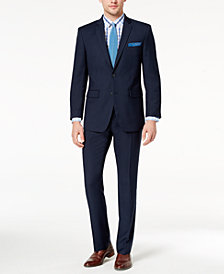 Perry Ellis Men's Slim-Fit Stretch Navy Solid Suit