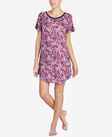 Layla Floral-Print Ruffle-Sleeve Sleepshirt