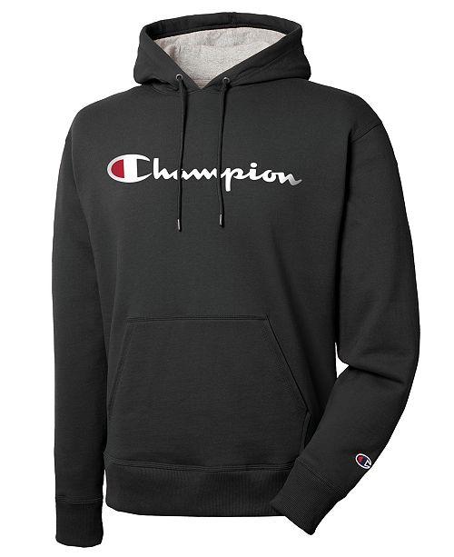 872782d03f7 Champion Men s Script Logo Powerblend Hoodie   Reviews - Hoodies ...