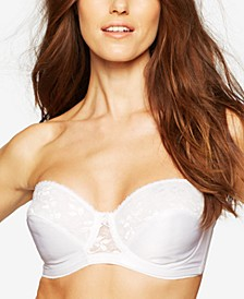Full-Coverage Lace Strapless Bra 123