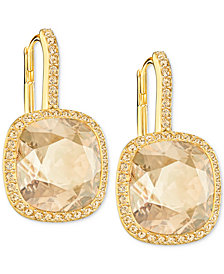 Swarovski Crystal Halo Drop Earrings