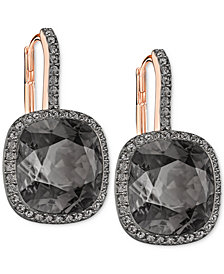 Swarovski Crystal Halo Drop Earrings