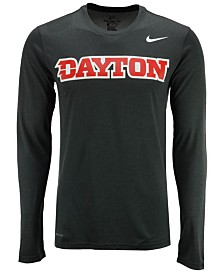 Nike Men's Dayton Flyers Dri-FIT Legend Wordmark Long Sleeve T-Shirt
