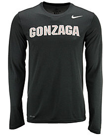 Nike Men's Gonzaga Bulldogs Dri-FIT Legend Wordmark Long Sleeve T-Shirt