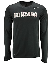 Nike Men's Gonzaga Bulldogs Dri-FIT Legend Wordmark Long Sleeve T-Shirt