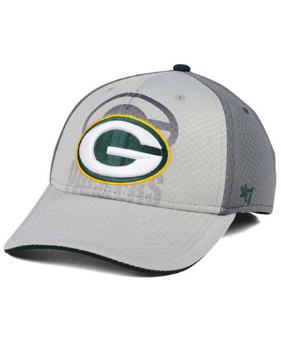 '47 Brand Green Bay Packers Greyscale Contender Flex Cap