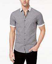 8048b8c66 Michael Kors Men's Stretch Gingham Check Shirt