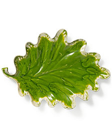 Vietri Reactive Leaves Collection Plate