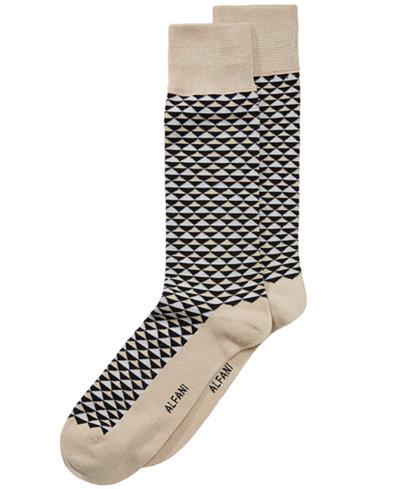 Alfani Men's Diamond-Print Socks, Created for Macy's