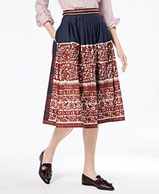 Weekend Max Mara Sassari Cotton Printed Skirt