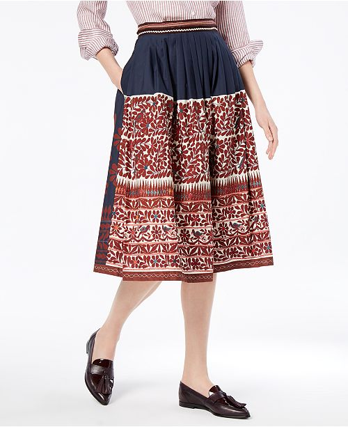 Weekend Max Mara Sassari Cotton Printed Skirt