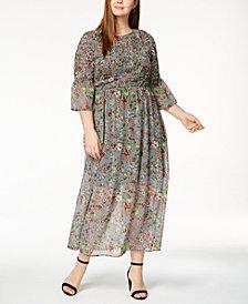 ECI Plus Size Smocked Maxi Dress