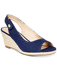 Charter Club Samiee Slingback Espadrille Wedge Sandals, Created for Macy's