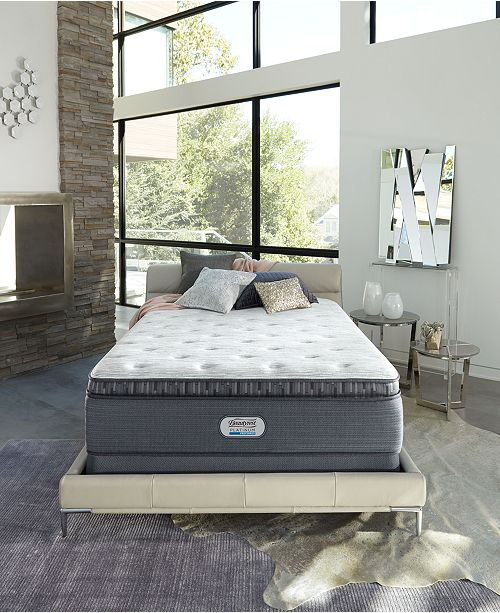 "Beautyrest Platinum Preferred Chestnut Hill 15"" Luxury Plush Pillow Top Mattress Collection, Created for Macy's"