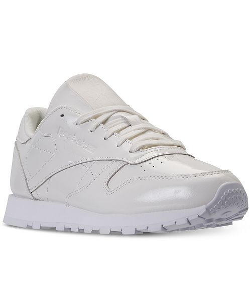 01afaceba315 ... Reebok Women s Classic Leather Patent Casual Sneakers from Finish ...