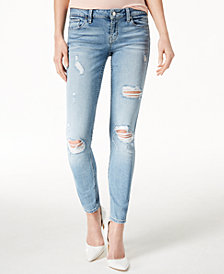 GUESS Low-Rise Distressed Skinny Jeans