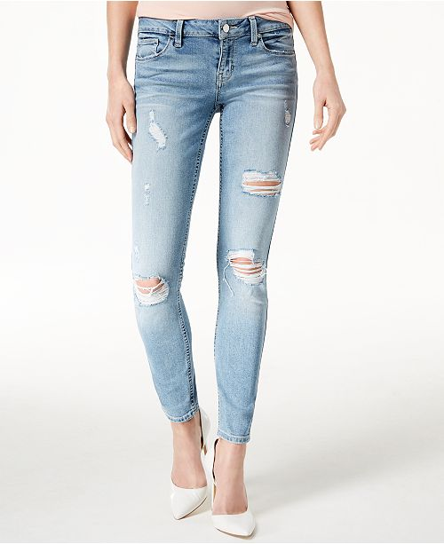 fa740b828c GUESS Low-Rise Distressed Skinny Jeans & Reviews - Jeans ...