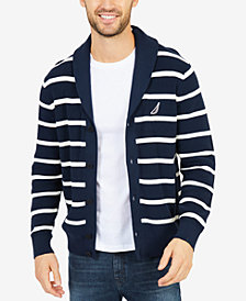 Nautica Men's Stripe Shawl-Collar Cardigan
