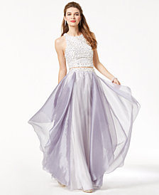 Say Yes to the Prom Juniors' 2-Pc. Embellished Gown, Created for Macy's
